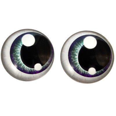 Glass Eyes Pair of 25mm Pink Anime Human Art Doll Cabochons Jewelry Sculpture