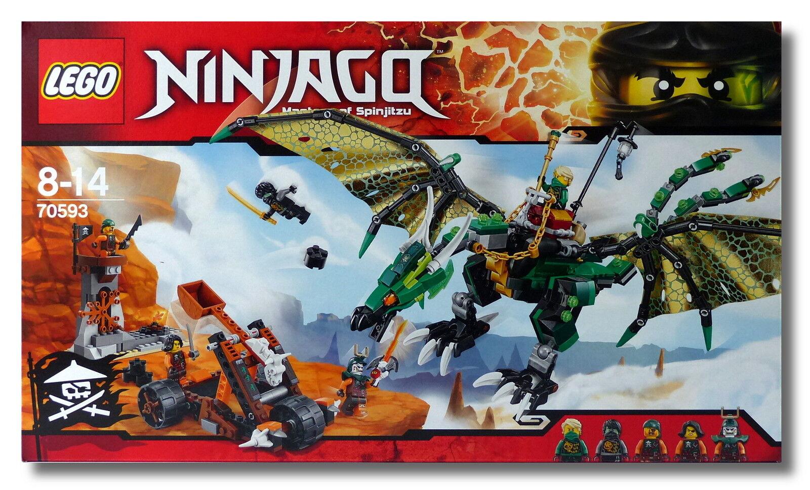 LEGO® NINJAGO™ 70593  Der Grüne Energie-Drache  Luftpiraten NEU OVP NEW MISB  | Lebhaft