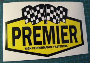VINTAGE-PREMIER-HIGH-PERFORMANCE-FASTENER-RACING-STICKER-DECAL-NASCAR-SCCA