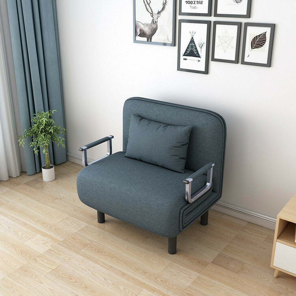 Picture of: Single Bed Sleeper Convertible Chair Gray For Sale Online Ebay