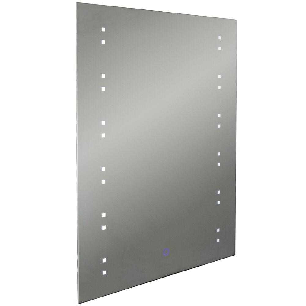 DEL lumineux 80 x 60 cm Rectangulaire Miroir Mural Lumière Avec Désembuage-SP1210