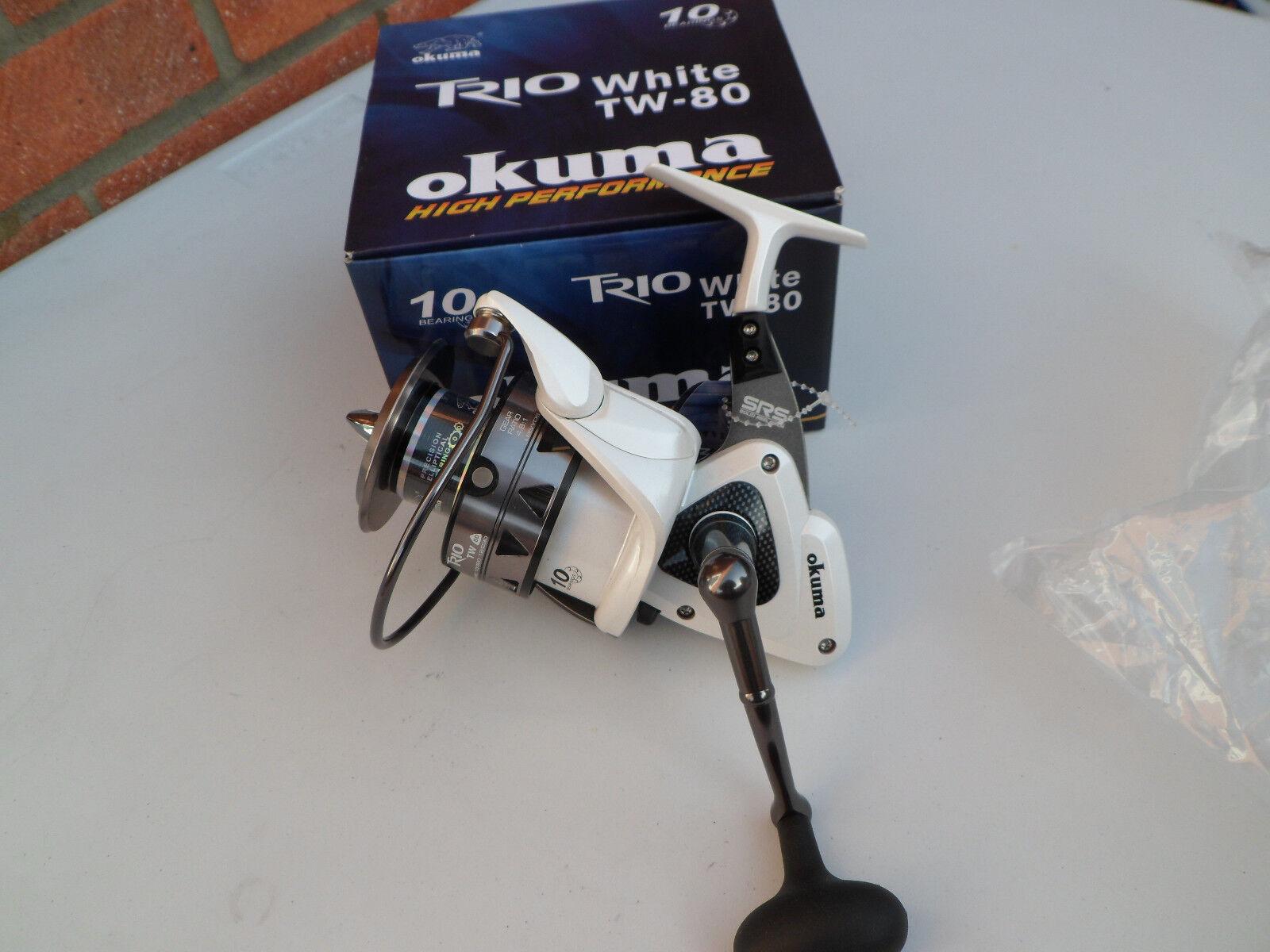 Okuma Trio wit TW80 Vaste spoel voor de zeevisserij