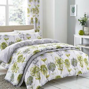 Catherine-Lansfield-Banbury-Floral-Verde-Duvet-del-lecho