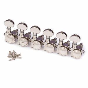 Tuner Set for Fender 6 in Line,18:1,Nickel Grover Locking Rotomatics 505FVN R