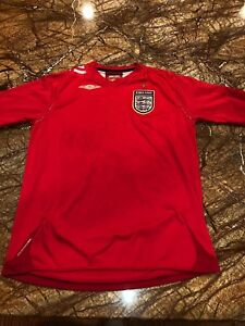 5fea1b7658a Umbro Boy s Youth Sz Large England Home Football Soccer Jersey ~Red ...
