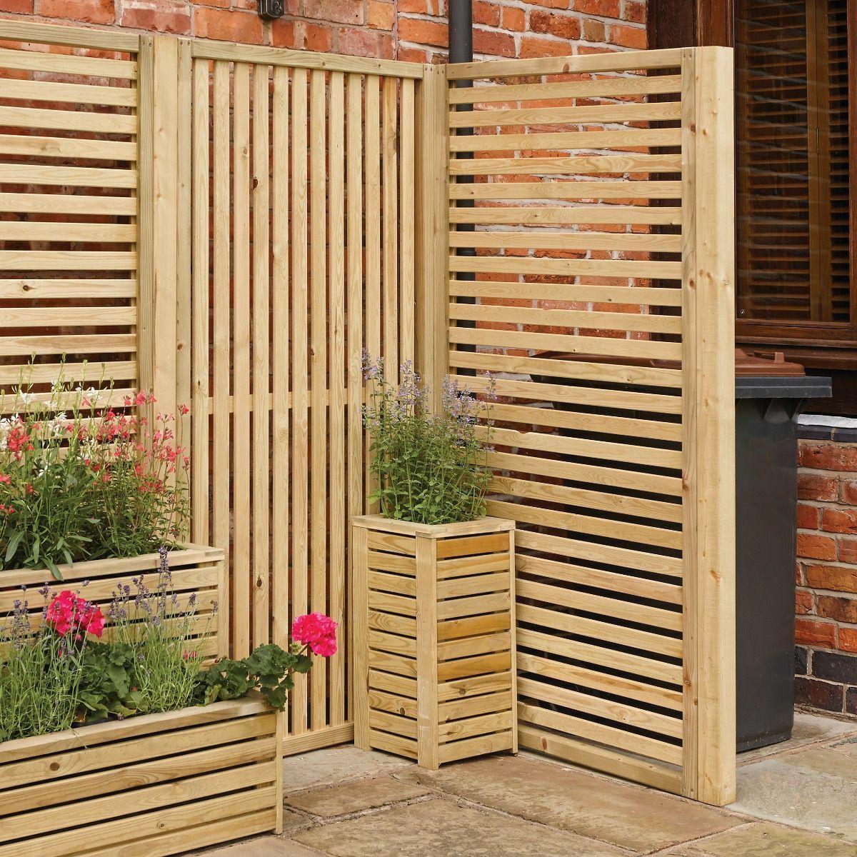 Rowlinsons Vertical Slatted Wood Screen