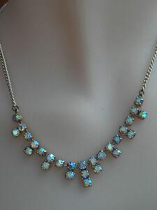 Vintage 1950s Sparkly Aurora Borealis Necklace