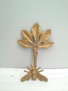 Image Is Loading Gold Bee Coat Hook Curtain Tie Back Wall