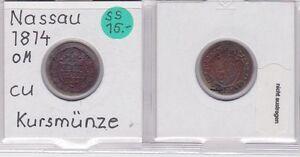 121128 1/4 Kreuzer Kupfer Münze Nassau 1814 Delikatessen Von Allen Geliebt