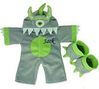 Teddy Bear Clothes Fit Build A Bear Grey Dinosaur Monster Outfit Personalised