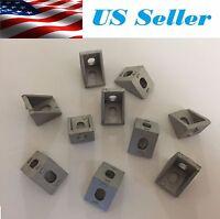 10x 2020 Corner Fitting Angle Aluminum 20x20 L Connector Bracket Fastener Match