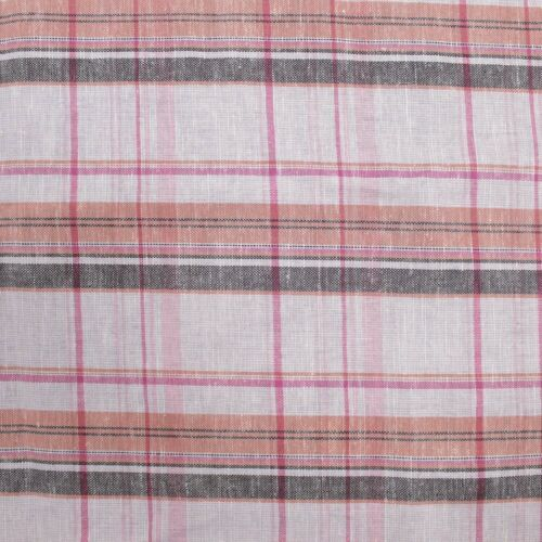Multi Color Plaid Pattern Cotton Linen Fabric by the Yard or Sample Swatch