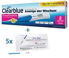 2 x Clearblue Schwangerschaftstest Digital mit Wochenbestimmung + 5 Markentests