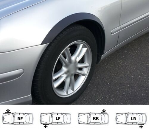 /'02-09 sale MERCEDES E W211 Brand New Wing Wheel Arch Trim set BLACK MATT 4 pcs