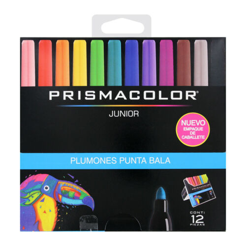 12-Count Assorted Colors Bullet Tip Prismacolor Junior Markers