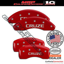 Mgp Caliper Brake Cover Red 14239scrzrd Front Rear For Chevrolet Cruze 2017 2018