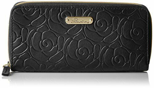 Dragon Fly Wallet Buxton Leather Womens Rose Garden Accordion Zip French Purse