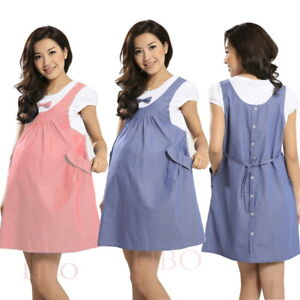 a9c5f3b5837 Image is loading Summer-Maternity-Dress-Bow-Clothes-For-Pregnant-Women-
