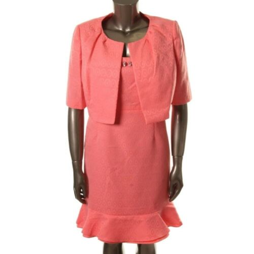 Set 2pc Boutique Lined Nuovo With Dress Shimmer Pink Jacket 16 Nipon 4 Size I8HxI