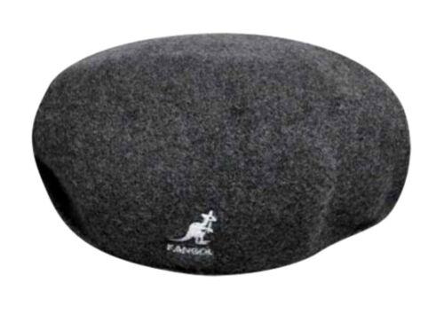 S XL KANGOL Hat 504 Wool Flat Cap 0258BC Winter Charcoal Sizes