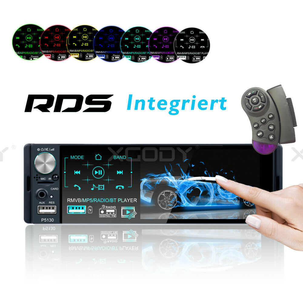 autoradio: 4.1″ Autoradio Lettore MP5 Bluetooth RDS AM FM Touchscreen 2 USB AUX Vivavoce