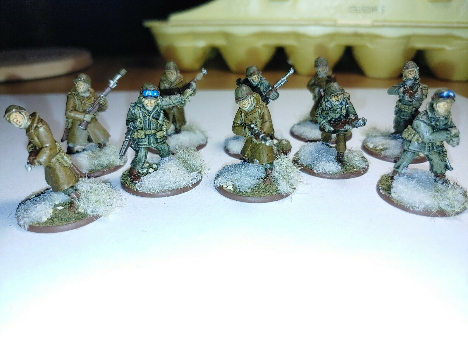 Bolt Action Warlord Games Winter US Infantry Squad 1