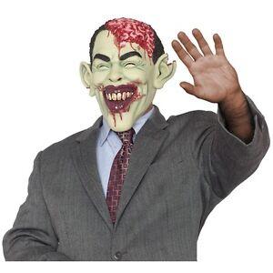 Image is loading Barack-Obama-Zombie-Mask-Adult-Funny-President-Halloween-  sc 1 st  eBay & Barack Obama Zombie Mask Adult Funny President Halloween Costume ...
