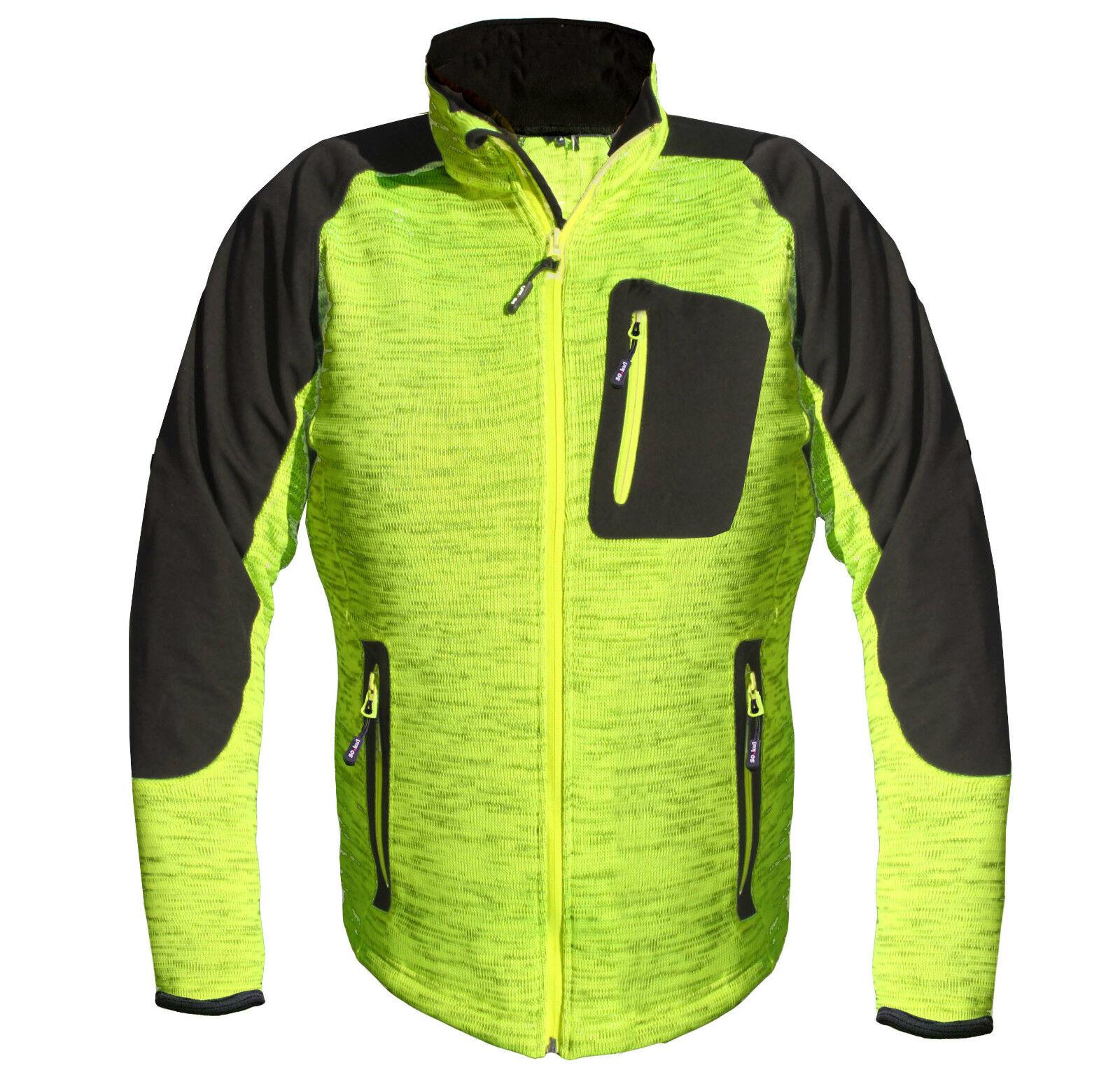 Veste Softshell tricotée cycliste TENDANCE bonne visibilité Nouveauté