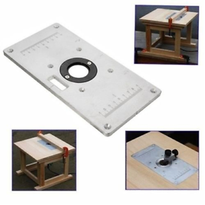 Router table insert plate aluminium woodworking bench surface image is loading router table insert plate aluminium woodworking bench surface greentooth Choice Image