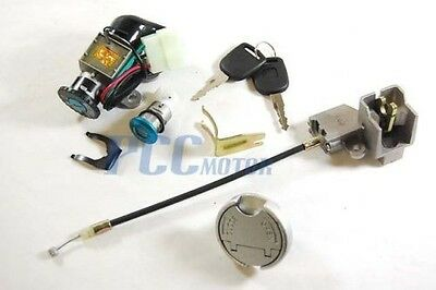 5 wires IGNITION KEY SWITCH LOCK 49CC 50CC SCOOTER MOPED MOTORCYCLE M KS12