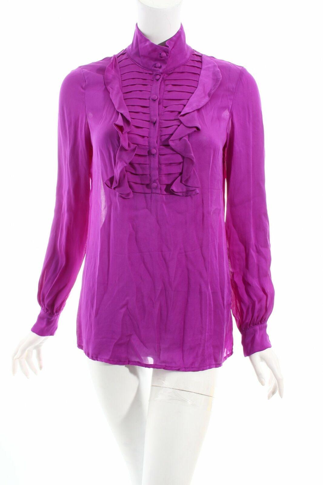 Reiss-Manica lunga Camicia Viola business-look da donna tg. de de de 38 seta BLOUSE 5c768f