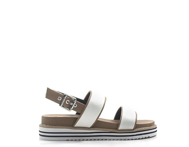 shoes GAUDI' women Sandali Bassi  BIANCO PU 66621-V0041
