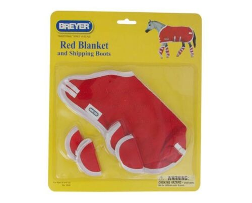 RED 3946 Breyer Horse Accessory Traditional BLANKET /& SHIPPING BOOTS