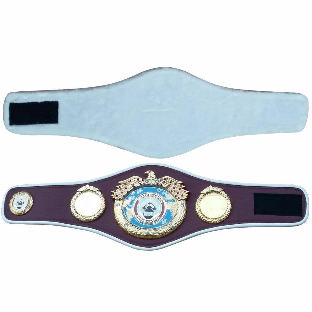 CAMPIONATO Mondiale Pugilato Cintura Piastre Di Mettuttio Mini Premium Quality Leather