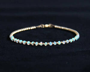 Image Is Loading Ethiopian Opal Bracelet Natural Beaded
