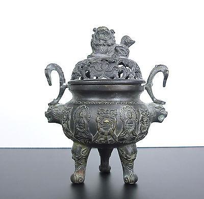 GroßZüGig Antik Brenner Räucherstäbchen Marke Apocryphe Xuan Von Ming China Incense Burner