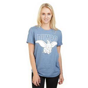 Disney-Dumbo-Flying-Official-Ladies-T-shirt-Indigo-S-XL