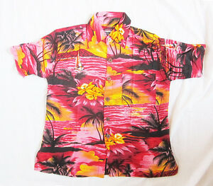 Boys Loud Hawaiian Shirt Hawaiian Hibiscus Flowers Holiday Party