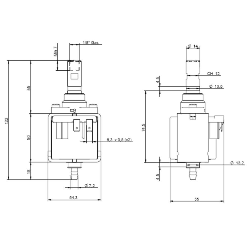 ulka eax5 vibratory pump 120v  52w  60hz coffee espresso machine saeco gaggia