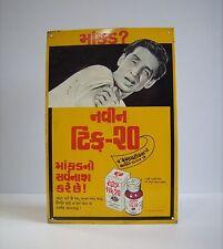 Vintage Flea Tick Repellent Pharmaceutical Advert Sign
