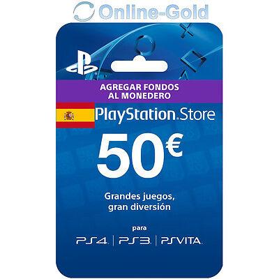 50€ PlayStation PSN Prepaid Key 50 Euro Sony PS3 PS4 PS Vita Tarjeta Prepago ES