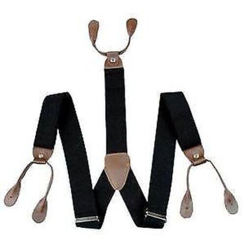 Herren Unisex Hosenträger 6 Knopfloch Elastisch Hosenträger Verstellbar Y-Form