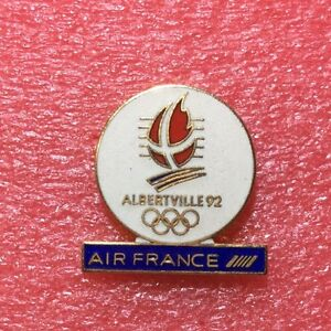 Pins-J-O-ALBERTVILLE-92-Sponsor-AIR-FRANCE-Jeux-Olympique-Olympic-Games