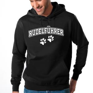 RUDELFUHRER-Hund-Agility-Alphatier-Rudel-Wolf-JGA-Chef-Kapuzenpullover-Hoodie