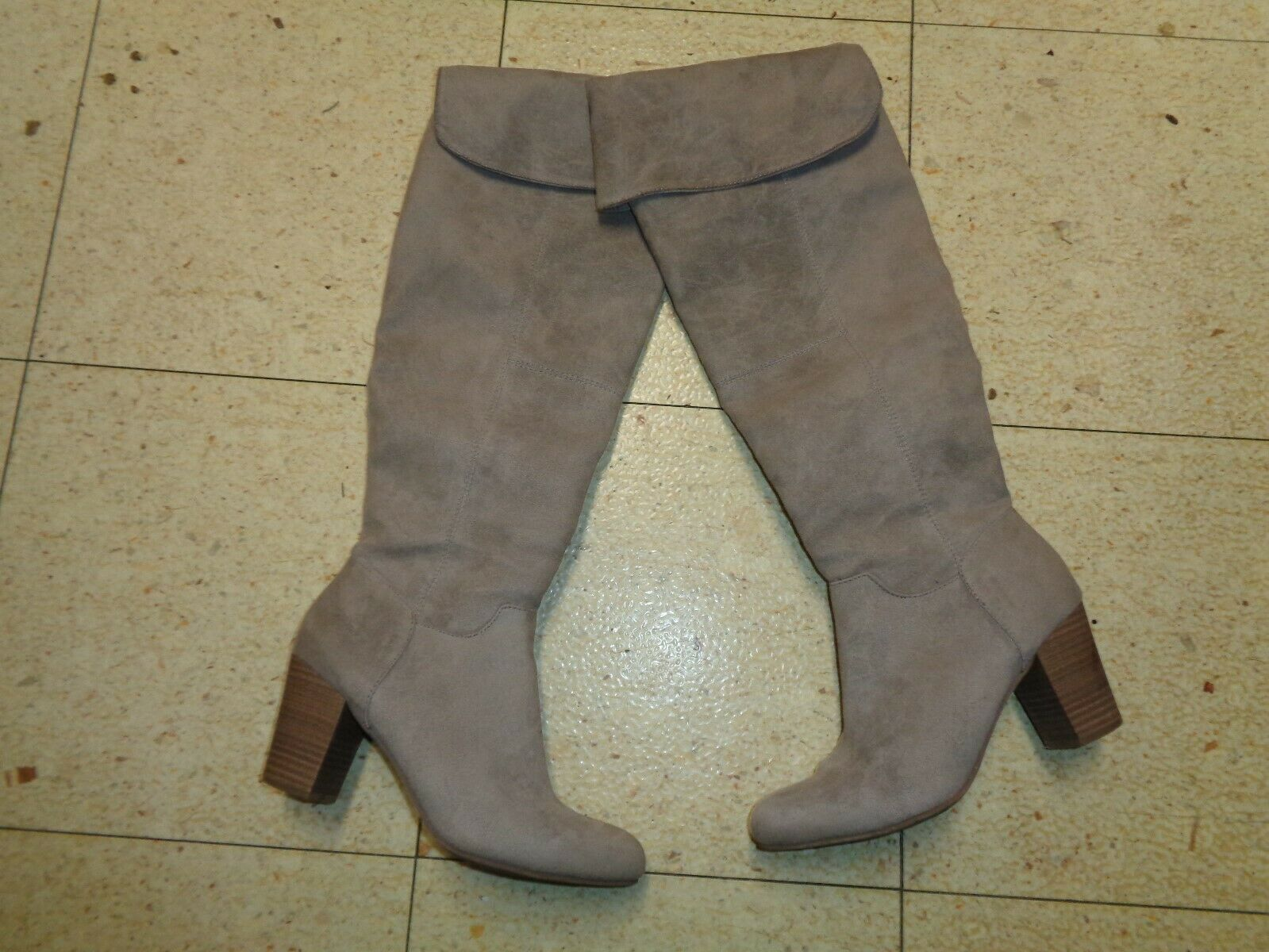 Kenneth Cole REACTION Over-The-Knee Boots, Taupe,8 1 2M  Retail