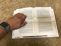 2x Large Bar Magnifier - Low Vision, Book Magnifier, Read The Page Enlarged