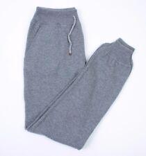 Brunello Cucinelli 100% Cashmere heavy knit Grey Sweatpants Size S NEW  small