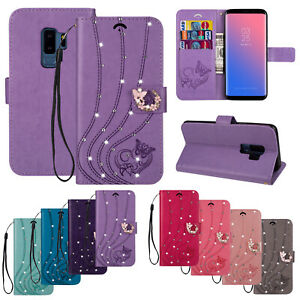 Bling-Flip-Leather-Wallet-Phone-Case-For-Samsung-Galaxy-S10-S9-S8-Note-9-Cover
