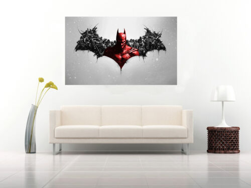 Black /& Red Batman Film Characters Art on CANVAS WALL ART Picture Print