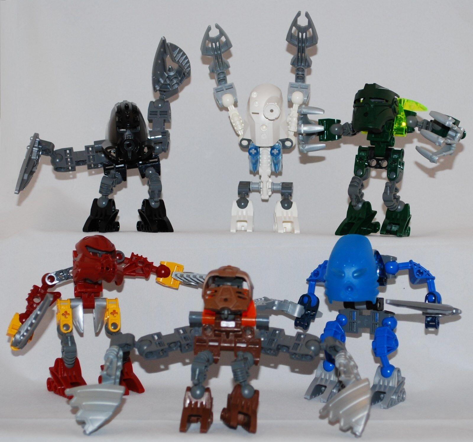 LEGO Bionicle Set  All 6 figures  8721, 8722, 8723, 8724, 8725, 8726